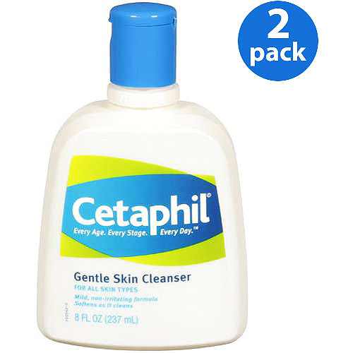 Cetaphil For All Skin Types Gentle Skin Cleanser 8 fl oz (Pack of 2)