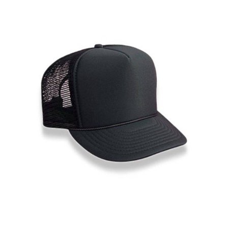 Pro Trucker Hat - Retro Foam & Mesh Trucker Baseball Hat, Black