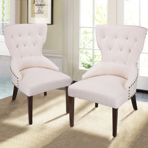 Adeco Trading Fabric Living Room Arm Chair (Set of 2)