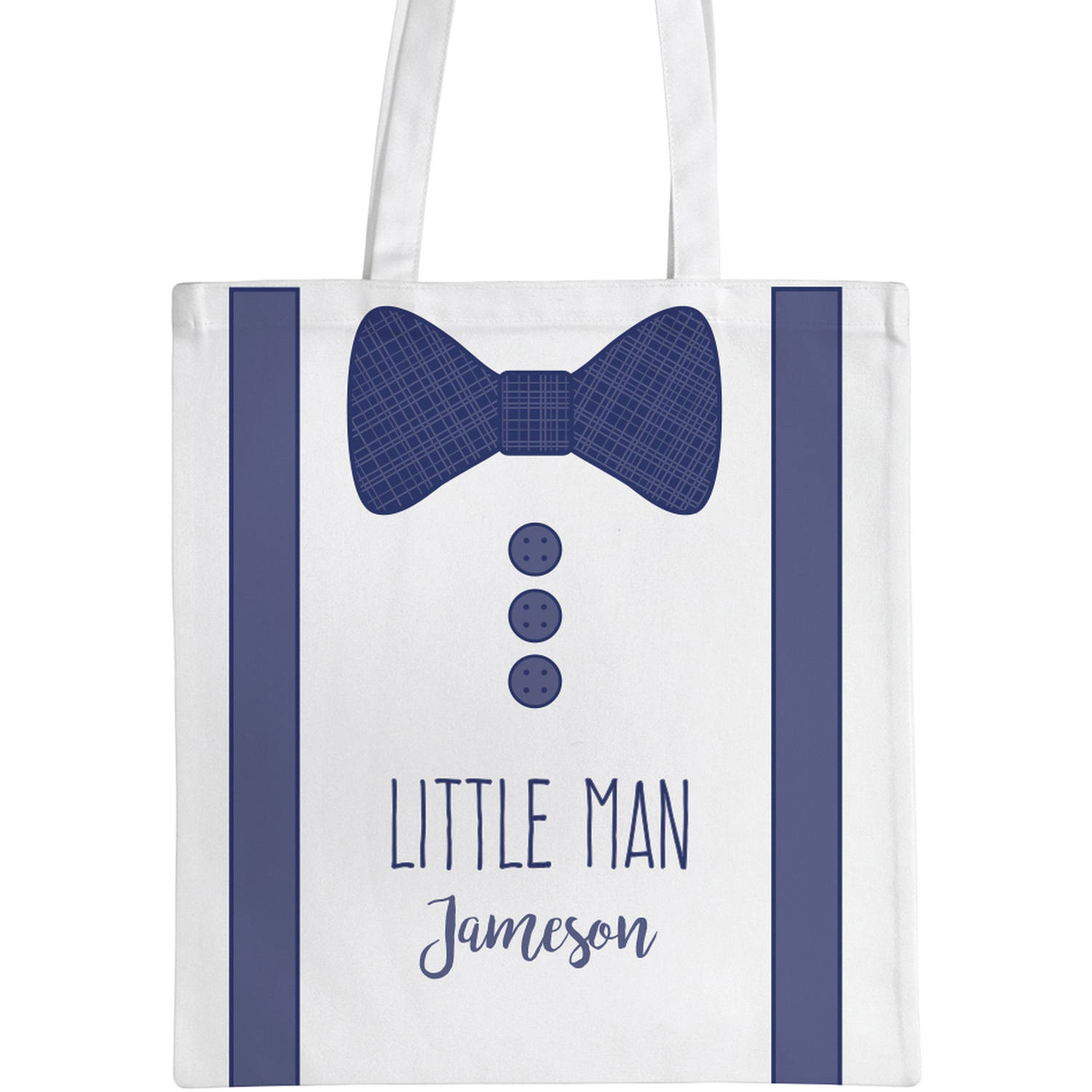 """Personalized Tuxedo Kids Tote Bag, Sizes 11"""" x 11.75"""" and 15"""" x 16.25"""""""