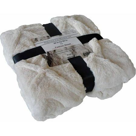 Faux Fur Knot Throw Blanket - Faux Snow Blanket