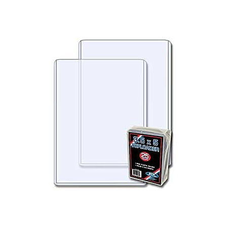 (25) BCW Brand 3.5 X 5 - Topload Holder (baseball trading cards, index cards and photos) - Baseball Card Holders Walmart