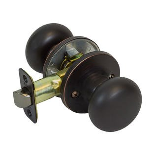 Round Mushroom Hall Closet Passage Door Knob, Oil Rubbed Bronze