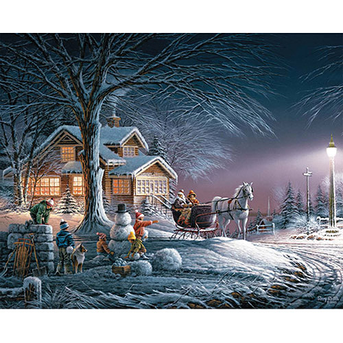 "Jigsaw Puzzle Terry Redlin 1000 Pieces 24"" x 30"", Winter Wonderland"