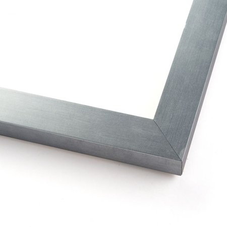 3.5x5 Silver Stainless Steel Wood Picture Frame - With Acrylic Front and Foam Board (Stainless Steel Frames)