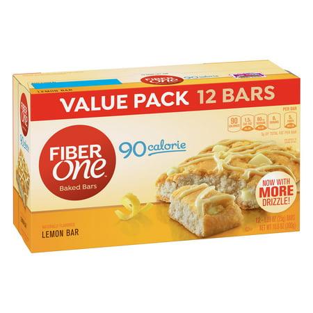 Worsted Fiber - Fiber One 90 Calorie Soft-Baked Bar Lemon Bar 12 Fiber Bars 10.6 oz