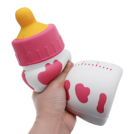 Huge Milk Nursing Bottle Squishy 25x9.5x9.5CM Giant Slow Rising With Packaging Soft Toy- Black /Pink /Blue - image 2 of 5