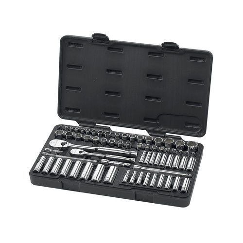 GearWrench 83000 68-Piece SAE/Metric 1/4 in. & 3/8 in. Drive 6 & 12 Point Socket and Wrench Set