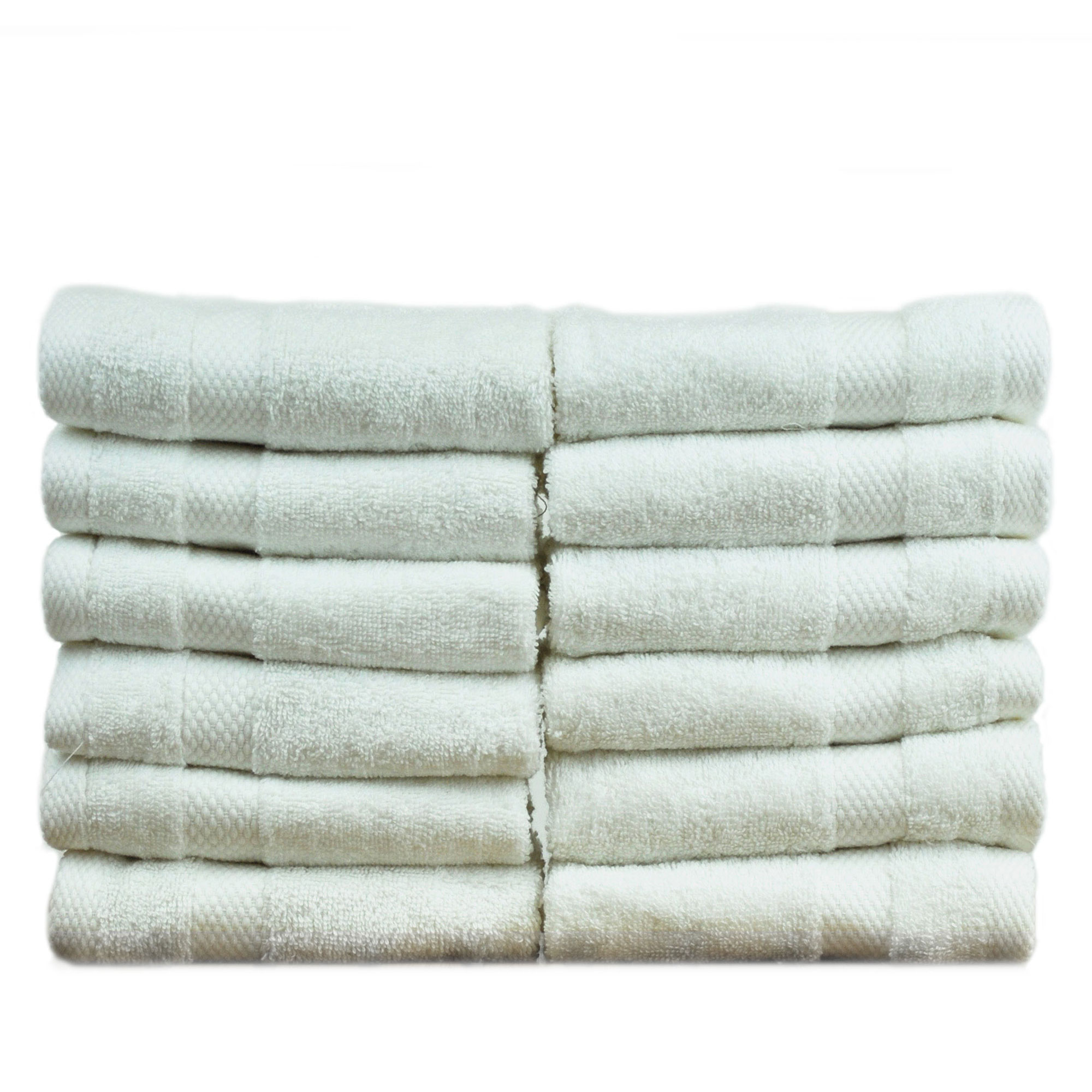 Bare Cotton Luxury Hotel & Spa Towel 100% Genuine Turkish Cotton Washcloths - White - Honeycomb -  Set of 6