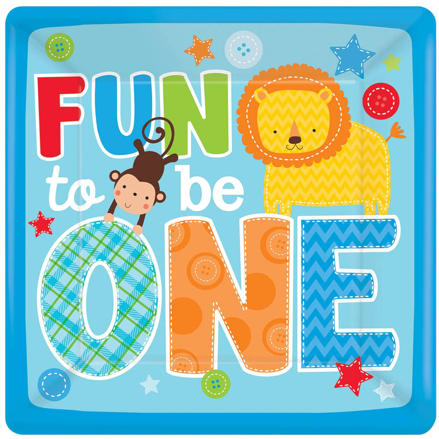 Fun at One Boy Dinner Plates, 8pk