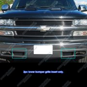 Compatible with 1999-2002 Chevy Silverado 1500 2000-2006 Suburban Tahoe Bumper Black Billet Grille Grill C85027H