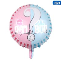 KABOER New 18 Inch Round Boy Or Girl Aluminum Balloon Baby Birthday Party Decoration Balloon