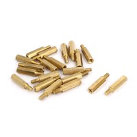 M3 Female x Male Brass Hexagonal Pillar Standoff Spacer Screws Bolt 15+6mm 20pcs