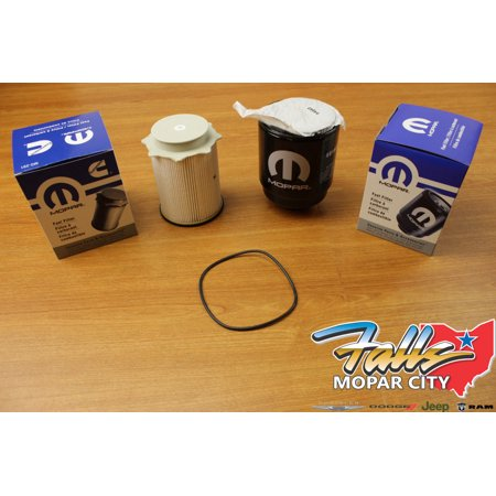 2013-2018 Dodge Ram 6.7 Liter Diesel Fuel Filter Water Separator Set Mopar (Diesel Bypass Filter)
