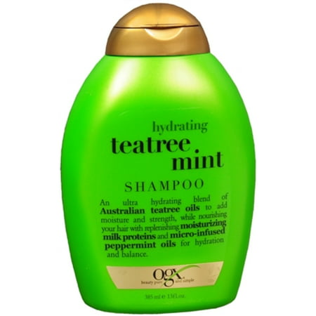 Organix Hydrating Tea Tree Mint Shampoo 13 oz (Pack of 2)