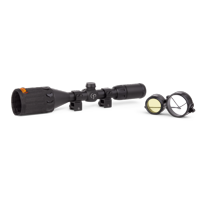 Centerpoint 3-9x50mm Rifle Scope with Picatinny Rings, Tag Bdc Reticle (Black)