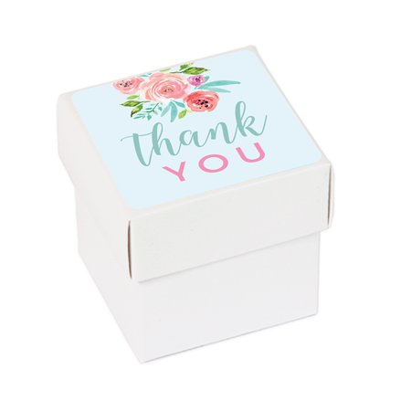 Wedding Pink Roses English Tea Party, 20-Pack Favor Box DIY Party Favors Kit, Thank You, - Tea Party Wedding