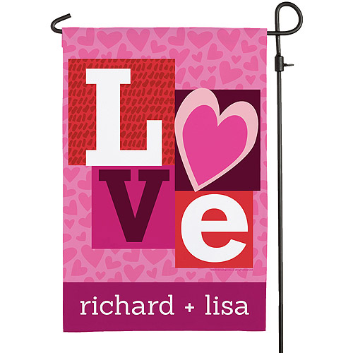 Personalized Robin Zingone LOVE Garden Flag