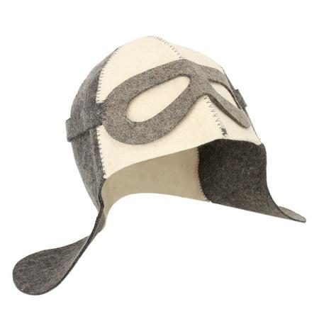 "Wool Felt Bath Sauna Hat Russian Banya Cap 100% Wool Felt White Sauna Hat for Head Protection 9.8"" x 14.2"" Dia. 8.7"" - image 3 de 5"