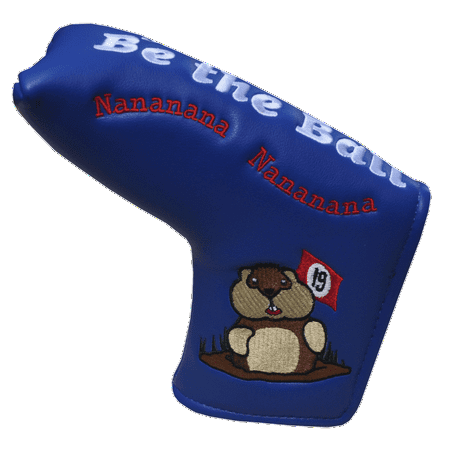 2 Ball Putter Cover - Caddyshack Embroidered Putter Cover - Just Be The Ball by ReadyGolf