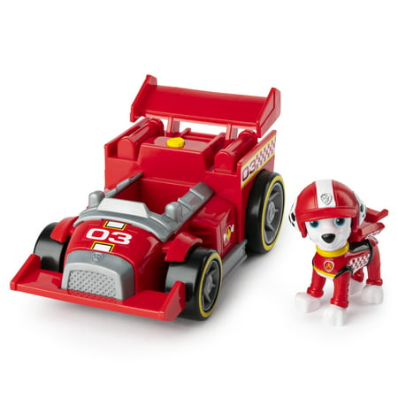 PAW Patrol, Ready, Race, Rescue Marshalls Race & Go Deluxe Vehicle with Sounds, for Kids Aged 3 and Up