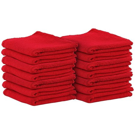 - Auto-Mechanic Shop towels 100 Pack,100% Cotton Commercial Grade Rags, Perfect for your Home,Garage & Auto 14x14 inches (Red)