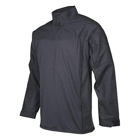 Tru-Spec Men's Responder Shirt, 24-7 P/C R/S 1/4 Zip, Black, Small Regular - image 1 de 1