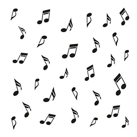 Music Notes Stencil by StudioR12 | Musical Pattern Art - Reusable Mylar Template | Painting, Chalk, Mixed Media | Use for Journaling, DIY Home Decor - STCL708 SELECT SIZE (12