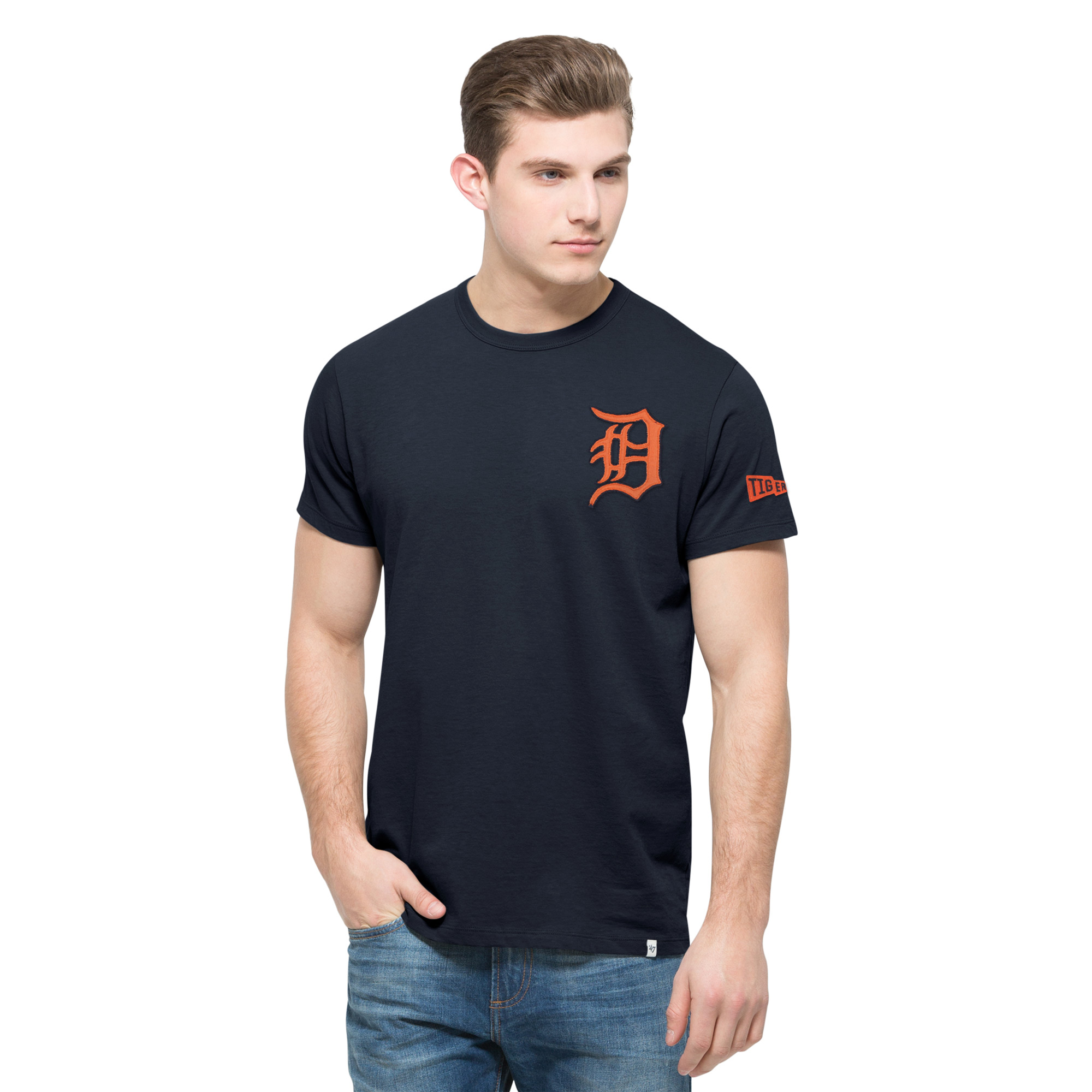 Detroit Tigers '47 Rundown Fieldhouse T-Shirt - Navy