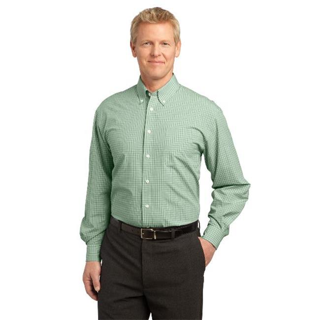 Port Authority® Plaid Pattern Easy Care Shirt. S639 Green 3Xl - image 1 de 1