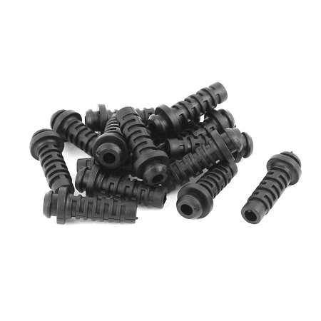 15 Pcs Rubber Strain Relief Cord Boot Protector Wire Cable