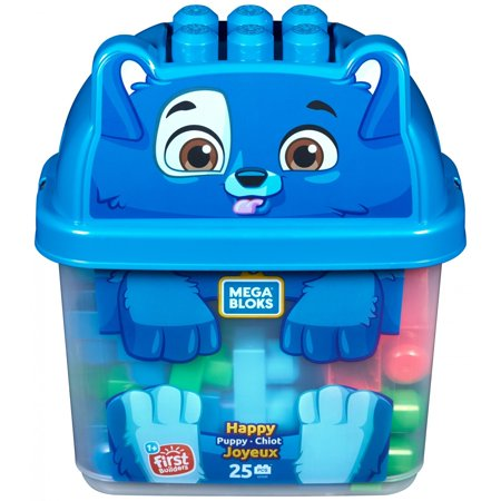 Mega Bloks Happy Puppy 25-Piece Building Blocks Set for $<!---->