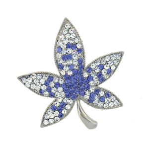Swarovski Crystal Leaf Brooch   Pin (1 2 x 1 3 4) Gift Boxed by