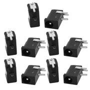 10Pcs 3.5x1.3MM Center Pin Right Angle Open Frame DC Power Jack Connector