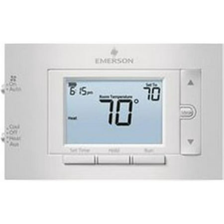 EMERSON 1F83H-21PR Low Voltage Thermostat, Gray, 20 to