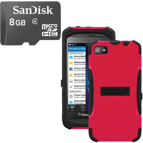 Trident Z10 Aegis Case Red With Sandisk Micro Sd 16gb