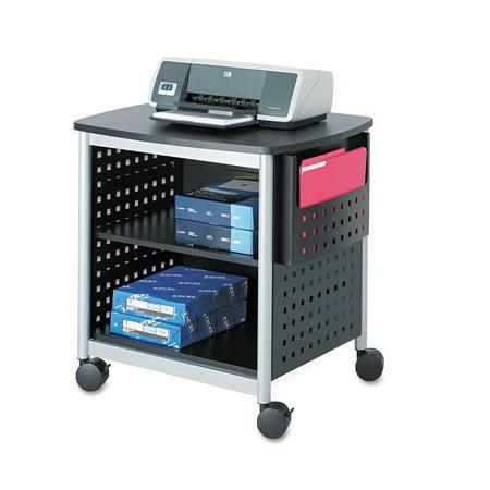 Safco Scoot Printer Stand  26 1 2W X 20 1 2D X 26 1 2H  Black Silver