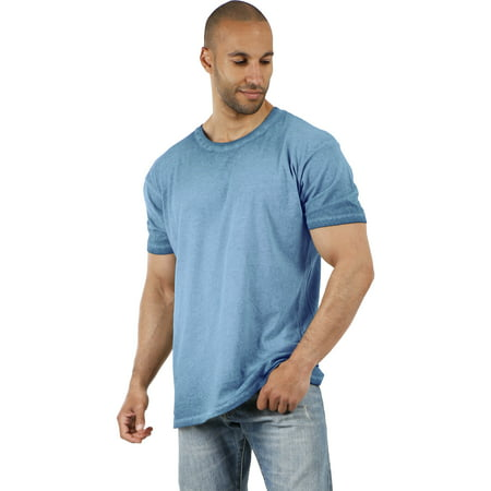 Men's Casual Oil Washed Vintage Crewneck Soft Faded T