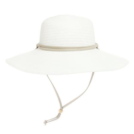 Sloggers - Womens White Wide Brim Braided UPF 50+ Hat Sun Protection  Gardening Cap - Walmart.com 3b88093e18cb