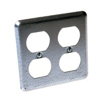 HubbellRaco Square 2 Duplex Receptacles Box Cover