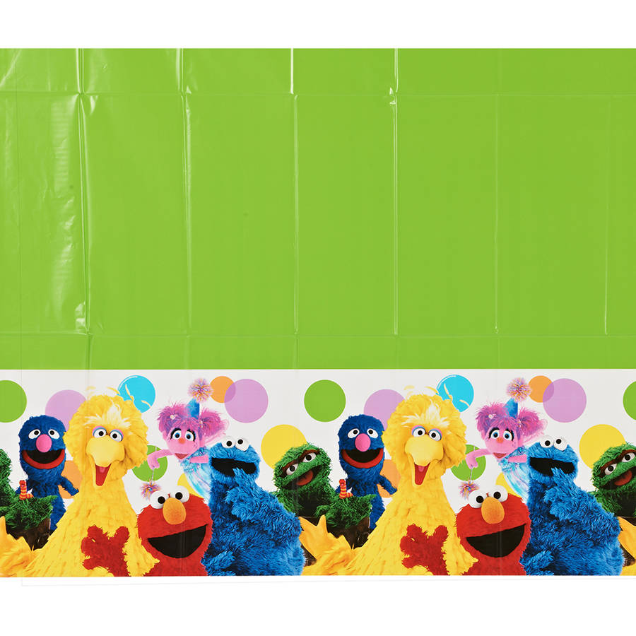 "Elmo Plastic Table Cover, 54"" x 96"", Party Supplies"