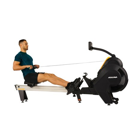 Asuna Windmill Air Magnetic Rowing Machine Rower with 14 lb Flywheel, Air and Magnetic Resistance, High Weight Capacity, Performance Monitor and Aluminum Slide Rail