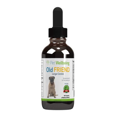 Pet Wellbeing - Old Friend for Senior Dogs - Promotes a Stronger Immune System and Joint Mobility in Older Canine - 4oz (118ml)