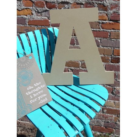 Wooden Hanging Letters Block (Wood Letter, Block Wooden Letter A 18'', Unfinished Wall Hanging )
