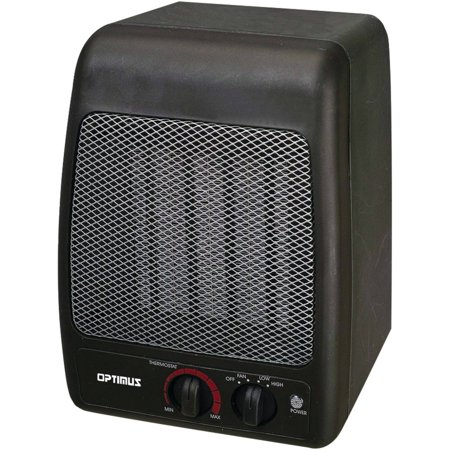 Small Portable Heater, Optimus H-7000 Black Electric Room Portable Patio