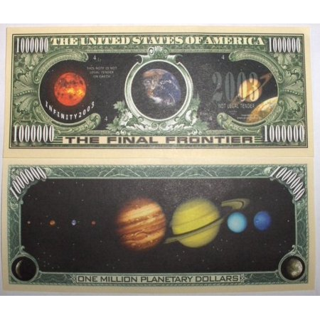 Set of 10 Bills-Solar System Million Dollar Bill, By Novelties Wholesale - Wholesale Novelty Items