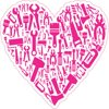 4in x 4in Pink Tool Heart Sticker Vinyl Cup Decal Hobby Bumper Stickers