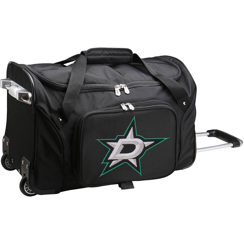 "Denco NHL 22"" Rolling Duffel, Dallas Stars by Mojo Licensing"