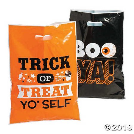 Halloween Funny Sayings Trick-or-Treat Goody Bags - Funny Halloween Wishes Sayings