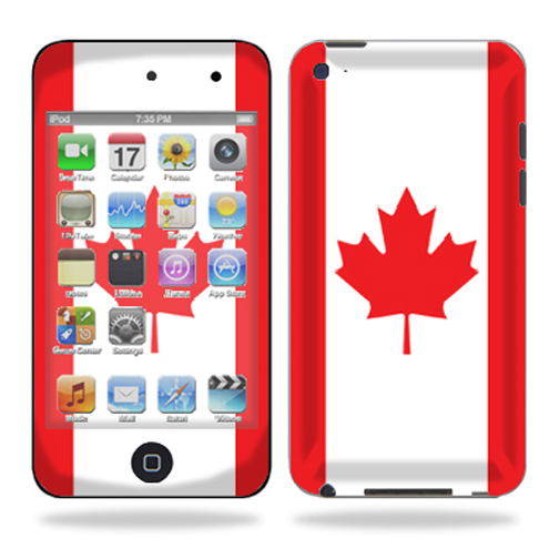 Mightyskins Protective Vinyl Skin Decal Cover for iPod Touch 4G 4th Generation wrap sticker skins – Canadian Pride